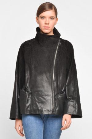 Замшевая куртка деграде с защипами