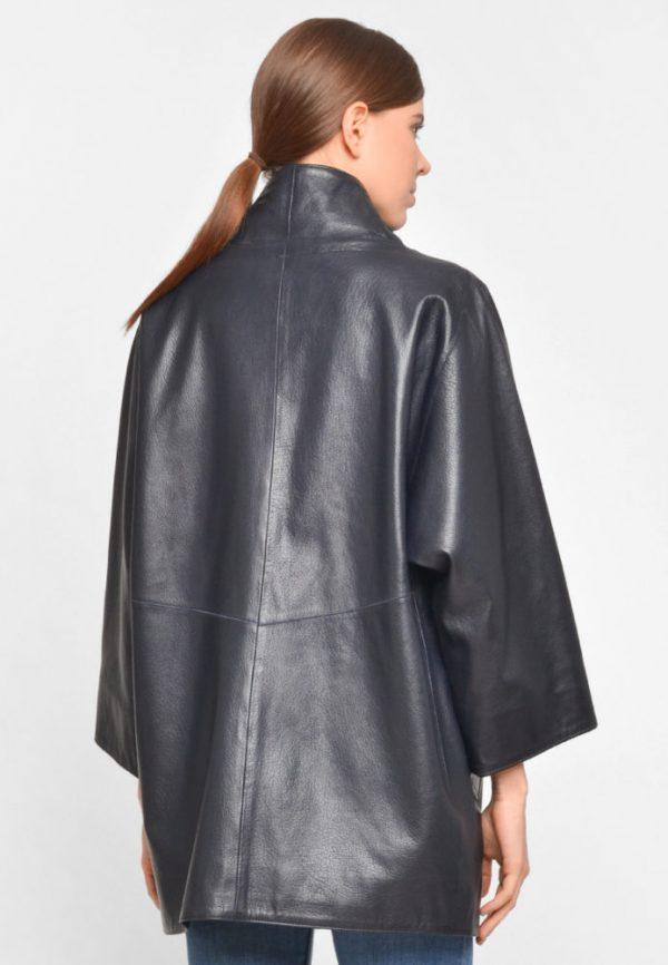 Купить Удлиненная кожаная куртка с укороченным рукавом