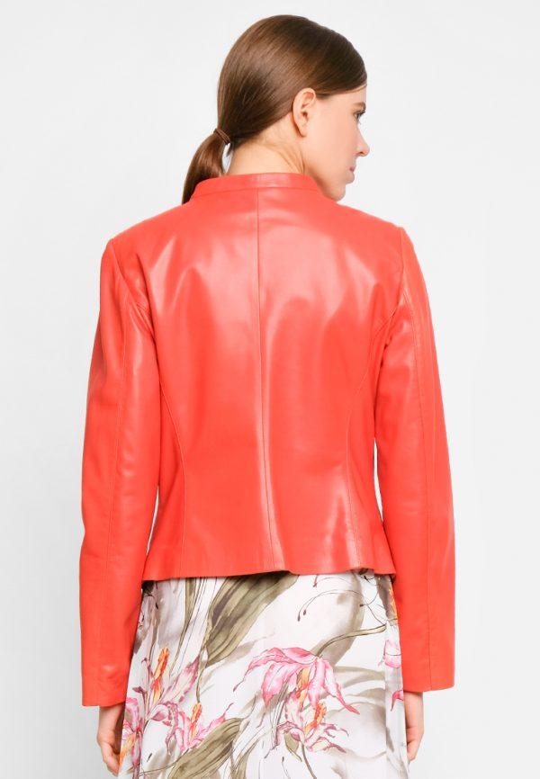 Куртка из натуральной кожи прямого силуэта82