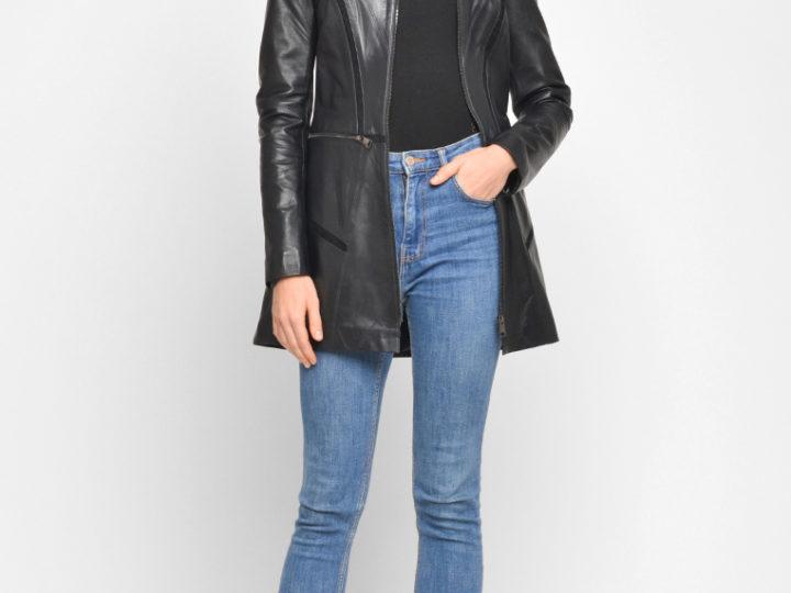 Удлиненные кожаные куртки