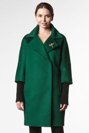 Демисезонное пальто со съемными митинками