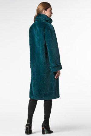 Пальто альпака с декоративным швом