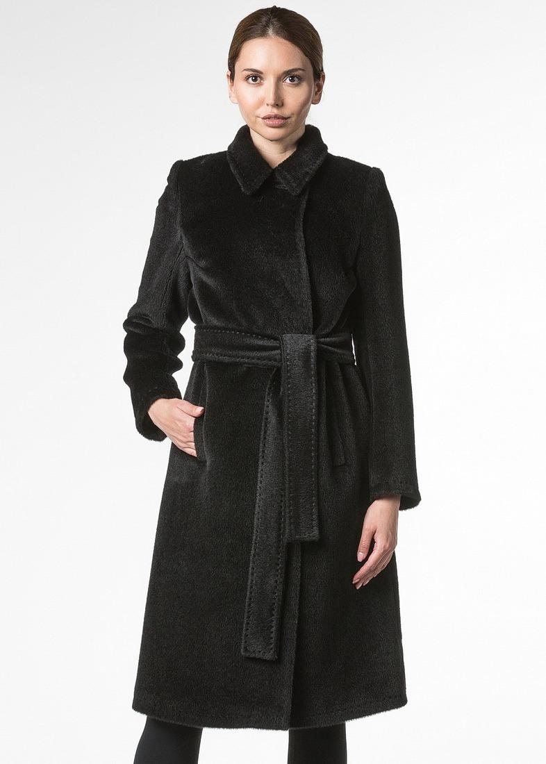 Приталенное пальто альпака в классическом стиле