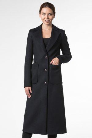 Демисезонное пальто длины макси с английским воротом