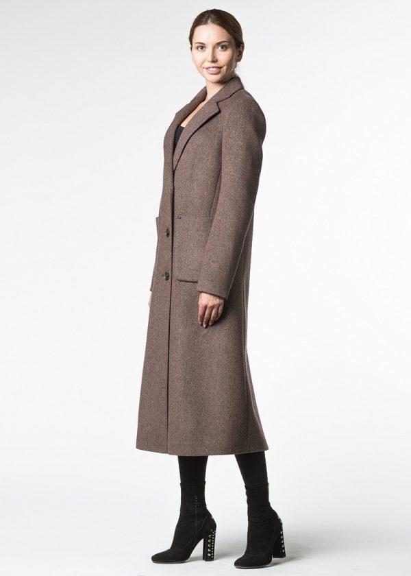Демисезонное пальто из шерсти длины макси
