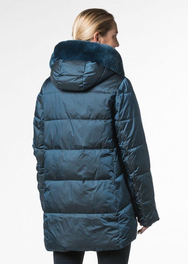 Куртка с капюшоном и накладными карманами с отделкой из орилага