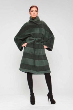 Пальто модели пончо из шерсти альпака