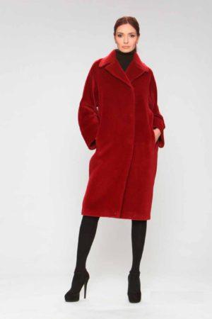 Пальто альпака в стиле oversize