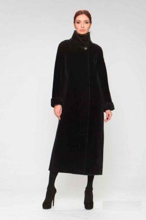 Пальто альпака с воротом стойка и манжетами
