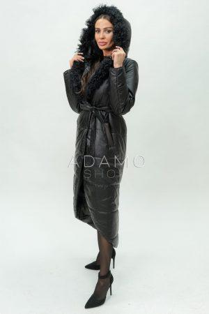 Купить Пальто-жилет с капюшоном и съемными рукавами