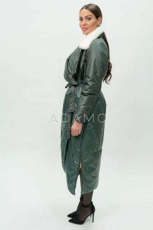 Купить Дизайнерское пальто с норковым воротником