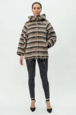 Купить Жакет альпака модели летучая мышь с капюшоном