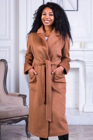 Купить Двубортное пальто с накладными карманами